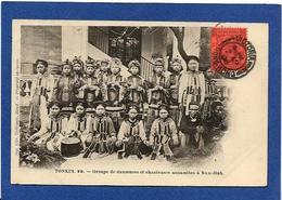 CPA Tonkin Indochine Asie Types Ethnic Circulé De Hong Kong Cachet Chine Annamite - Viêt-Nam