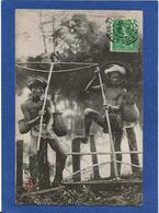 CPA Tonkin Indochine Asie Types Ethnic Circulé Pêcheurs D'anguilles - Viêt-Nam