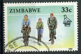 Zimbabwe 1990 33c Bicycles Issue #626 - Zimbabwe (1980-...)