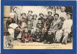CPA Tonkin Indochine Asie Types Ethnic Circulé Famille Annamite De Bac Ninh - Viêt-Nam