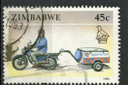 Zimbabwe 1990 45c Motorcycle Issue #629 - Zimbabwe (1980-...)