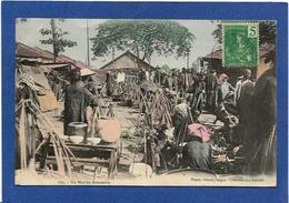 CPA Annam Indochine Asie Types Ethnic Circulé Marché Market Annamite - Viêt-Nam