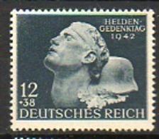 ALLEMAGNE - Troisième Reich - 1942 - N° 736 - (Journée Des Héros) - Germania