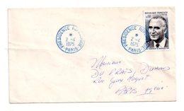 Affranchissement Timbre Pompidou - Présidence Republique 1975 -voir état - Marcophilie (Lettres)