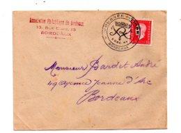 Affranchissement Journée Du Timbre 1944-Bordeaux -voir état - Marcophilie (Lettres)