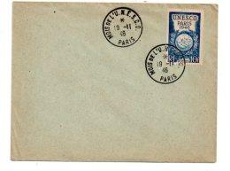 Affranchissement Mois De L'Unesco - 1946-Paris - Voir état - Marcophilie (Lettres)