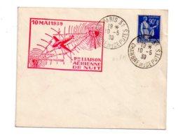 Affranchissement Chambre Des Députés - 1939-Paris- Voir état - Marcophilie (Lettres)