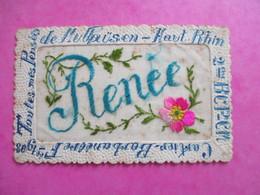 CPA FANTAISIE BRODEE PRENOM RENEE MULHAUSEN - Embroidered