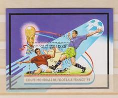 Coupe Du Monde De Football FRANCE 1998:  Feuillet De La République Du Bénin, Oblitéré - 1998 – Frankreich