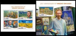 MALDIVES 2018 - Vincent Van Gogh. M/S + S/S Official Issue - Impressionisme