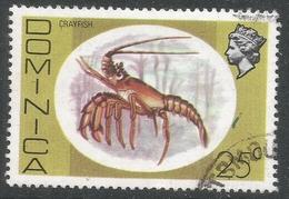 Dominica. 1975 QEII. 25c Used. SG 500 - Dominica (...-1978)