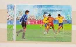 Coupe Du Monde De Football FRANCE 1998:  Feuillet De La République De Guinée, Oblitéré - 1998 – Frankreich