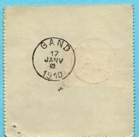N° 74 Op VISVERLOF / PERMIS DE PECHE, Afst. GAVERE 17/01/1910 (permis Double De 2 Francs) + GAND Met St Andreaskruis - 1905 Grosse Barbe