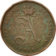 Monnaie, Belgique, Albert I, 2 Centimes, 1911, TB+, Cuivre, KM:65 - 1909-1934: Albert I