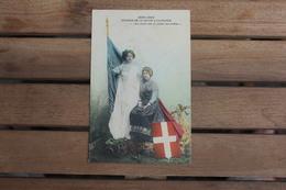 Carte Postale Patriotique Réunion De La Savoie à La France Nos Coeurs Vont Où Coulent Nos Rivières - Patriotiques