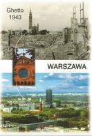 Vues Du Ghetto De Varsovie En 1943 Et Maintenant. Carte Postale Neuve Non Circulée - Geschichte