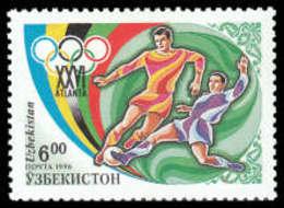 Soccer Football 1996 Uzbekistan #120 MNH ** Olympics Atlanta - Football
