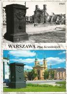 Ruines De Varsovie En 1945 Et Maintenant. Carte Postale Neuve Non Circulée - Geschichte