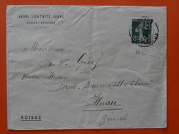"""5c Semeuse Perforé """"HL"""" Henri Lichtwitz Jeune Négociant En Vin Bouscat-Bordeaux (Gironde) - Suisse - France"""