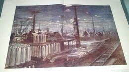 Affiche (dessin) - Usine De L'Eclairage électrique à LYON Installée En Trois Mois Das Le Grand Hall De L'exposition.... - Affiches