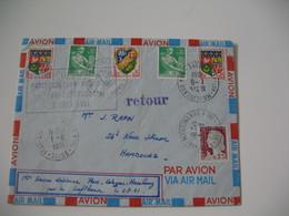Enveloppe  1961   Cachet  Première Liaison Paris Cologne Hambourg Par La Lufthansa 2/8/1961  N°  1230A Et 1231 - Marcophilie (Lettres)