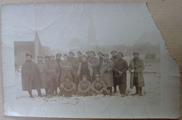 88  DEYVILLERS    GROUPE  DE  MILITAIRES    SOUVENIR  DES  CAMPAGNES  1914  15  16  17    ( Document  Rare ) - France