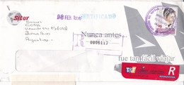 SITUR SOBRE ENVELOPE COMMERCIAL CIRCULEEE ARGENTINE RECOMMANDE CIRCA 1990's COPA MUNDIAL USA STAMP THEME- BLEUP - Equateur