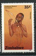 Zimbabwe 1991 35c Musical Instruments Issue #639  MNH - Zimbabwe (1980-...)
