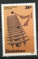 Zimbabwe 1991 38c Musical Instruments Issue #640  MNH - Zimbabwe (1980-...)