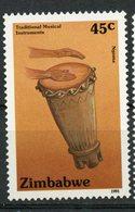 Zimbabwe 1991 45c Musical Instruments Issue #641  MNH - Zimbabwe (1980-...)