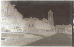Dépt 80 - MÉZIÈRES-EN-SANTERRE - PLAQUE De VERRE (négatif Photo Noir & Blanc, Cliché R. Lelong) - Église, Mairie-École - France