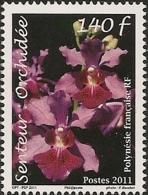 Polynésie Française 2011 -  Timbre Senteur - Orchidée - Polynésie Française