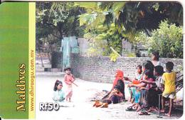 MALDIVES ISL.(chip) - Family Entertainment, CN : 0598, Used - Maldiven