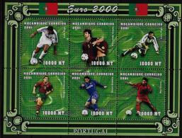 MOZAMBIQUE   Feuillet  1536/41  * *  ( Cote 13.50e )  Euro 2000  Football  Soccer   Fussball - Europei Di Calcio (UEFA)