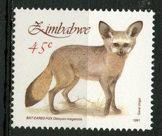 Zimbabwe 1991 45c Bat Eared Fox Issue #635  MNH - Zimbabwe (1980-...)