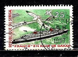 SÉNÉGAL 284° 25f Vert, Noir Et Rouge Tourisme Paquebot France à Dakar (10% De La Cote + 0,15) - Senegal (1960-...)