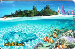 MALDIVES ISL.(chip) - Underwater, Reef Fish, CN : 0465, Used - Maldives