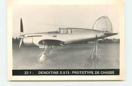 22-1 : Dewoitine D.513 - Prototype De Chasse - 1946-....: Ere Moderne