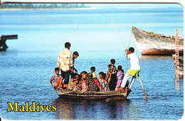 MALDIVES ISL.(chip) - A Ride To The Neighbours, CN : 0465, Used - Maldives