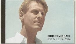 NORWAY, 2014, Booklet 182, Thor Heyerdahl, Prestige Book - Booklets