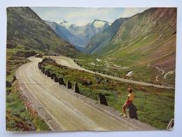 BJØRNSONVINGEN, VEGEN VIDESETER-GROTLI, THE BJØRNSON BEND AT THE VIDESETER-GROTLI ROAD. POSTED 1971 - Norway