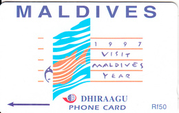 MALDIVES ISL. (GPT)- 1997 Visit Maldives Year, CN : 68MLDB/B(0 With Barred), Used - Maldives