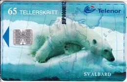 SVALBARD ISL.(chip) - Polar Bear, Isbjornen(140), CN : C92030245, Tirage 1000, 02/99, Mint - Svalbard