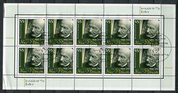"""Germany,Allemagne 2008 Kleinbogen/Zehnerbogen Mi.Nr.2658""""150.Geb. Von Max Planck,Nobelpreisträger """"mit ESST""""1Bogen Used - [7] Federal Republic"""