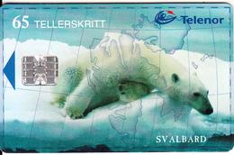 SVALBARD ISL.(chip) - Polar Bear, Isbjornen(140), CN : C92030061, Tirage 16000, 02/99, Used - Svalbard