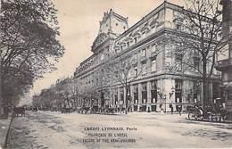 BANQUES - 75 PARIS - Banque CREDIT LYONNAIS ( CL LCL ) Siège Du Bld Des Italiens : Façade De L'Hotel - CPA - Seine - Banken