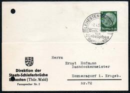B6223 - Lehesten - Schifer Schieferbruch - Sonderstempel Firmenpost Bedarfspost - Germania