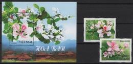 Vietnam (2018) - Set + Block -  /  Blumen - Flowers - Fleurs - Flores - Fiori - Orchidee