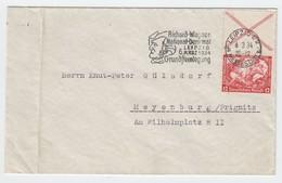 Deutsches Reich , Wagner Zusammendruck S 114 Auf Brief , Nicht Gerade Top ( 240.-= ) - Se-Tenant