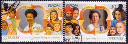GUERNSEY 1996 SG 694-95 Compl.set Used Europa. Famous Women - Guernsey